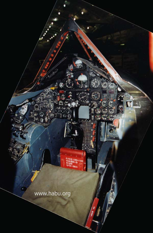 front cockpit of 976, Wright-Patterson AFB, December 1999